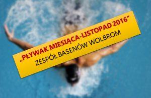 """""""Pływak Miesiąca – Listopad 2016"""""""