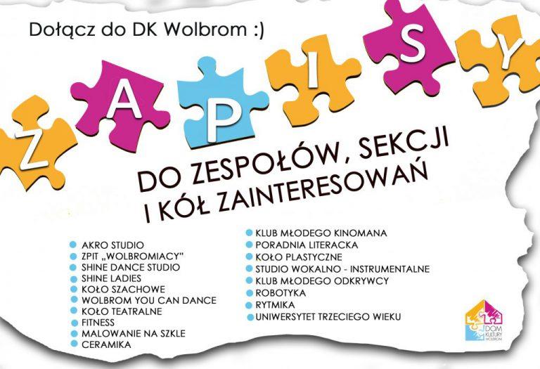 Zajęcia z DK Wolbrom – spotkania organizacyjne, szczegóły