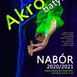 AKROBATYKA. Akro Studio DK Wolbrom ogłasza nabór na rok 2020 / 2021.