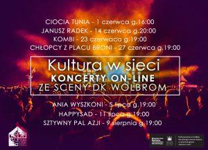 """Dom Kultury w Wolbromiu przyjazny promowaniu kultury w sieci. Projekt """"Kultura w sieci"""" – koncerty online, zapraszamy!"""