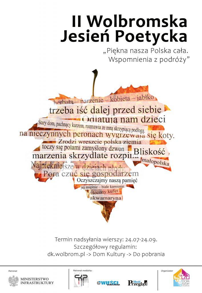 II Wolbromska Jesień Poetycka – wyniki w drugiej połowie października