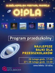 O!PLA 8. Ogólnopolski Festiwal Animacji – program przedszkolny