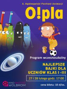 O!PLA 8. Ogólnopolski Festiwal Animacji – program wczesnoszkolny
