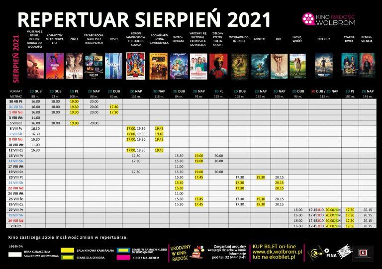 Repertuar na sierpień 2021