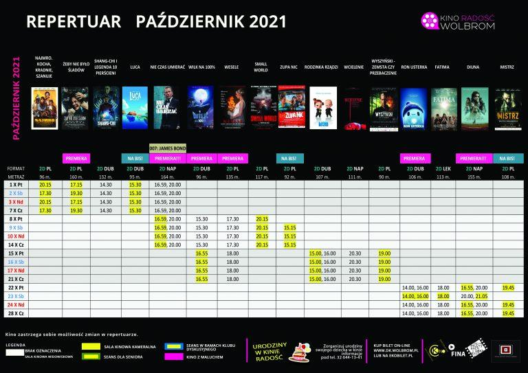 Repertuar na PAŹDZIERNIK 2021