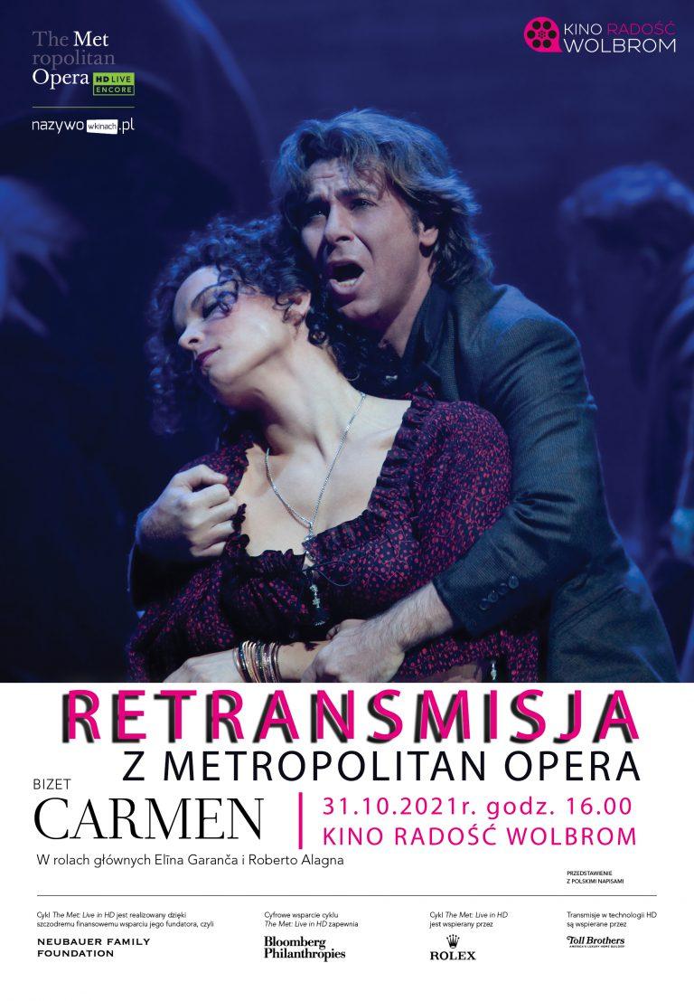 """Carmen"" z Metropolitan Opera na ekranie Kina Radość"